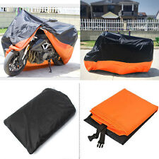 Motorcycle Cover Waterproof For Harley Davidson Street Glide Touring Orange XXXL