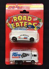 Majorette Road Eaters - Pepsi Diet Pepsi - Lamborghini And Box Truck 1993 Sealed