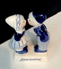 Delft Blue Hand Painted Boy And Girl Kissing Danmark Figurine Delft Blue