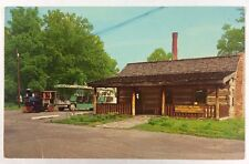 Log Cabin Tourist Center Vincennes, Indiana Knox County Chrome Postcard Unused