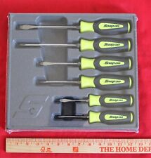 Snap On SGDX60BHV High-Visibility Yellow Black  Soft Grip Combination 6 Pc.New