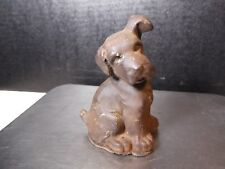 "Vintage 5"" Cast Iron Puppy"
