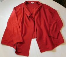 Jose Phine Studio Women's Ladies Long Sleeve Open Sweater XL xlarge Red NWT