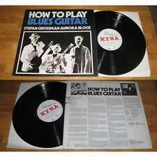STEFAN GROSSMAN - AURORA BLOCK/How To Play Blues Guitar LP Uk Folk 1971