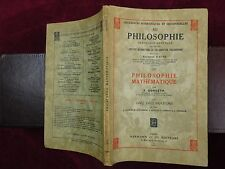 FERDINAND GONSETH: PHILOSOPHIE MATHEMATIQUE/SWITZERLAND/SCARCE 1939