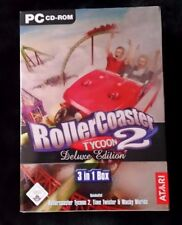 RollerCoaster Tycoon 2 - Deluxe Edition (PC, 2004, DVD-Box)