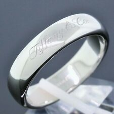 Tiffany & Co. Notes Men's Jewelry Platinum PT950 6MM Wedding Band Ring Size 11.5