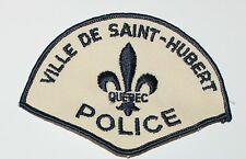 VILLE DE SAINT-HUBERT POLICE Quebec Canada Canadian PD patch