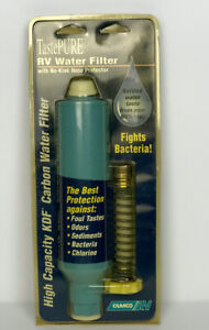 NEW Camco TastePURE KDF Carbon Water Filter Flexible Hose Protector 40043