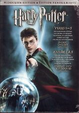 5 DVD BOX SET - HARRY POTTER YEARS 1-5 WIDESCREEN - New!  Stone Secrets Azkaban