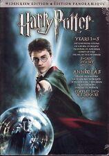 5 DVD BOX SET - HARRY POTTER YEARS 1-5 WIDESCREEN - New!  Stone Secrets Azkaban