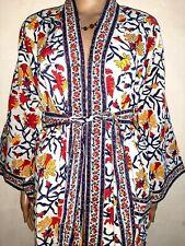 Indian Cotton Kimono Block Print Women Plus Size Tunic Maxi Cover up Kaftan Top