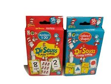 Dr. Seuss Flash Cards Lot Of 2 Numbers, Colors & Shapes Sealed Packs