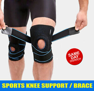 Gel Silicone Compression Knee Support Brace Arthritis Pad Pain Relief Strap