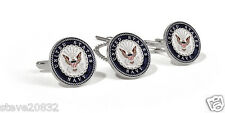 New U.S. Navy Tie Tack & Cuff Link Set. 60923.