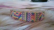 Webband Borte 1978 Dreiecke auf Pink 25mm Breite Ripsband
