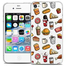 Coque Crystal Pour iPhone 4/4s Extra Fine Rigide Foodie Fast Food