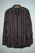 CASA MODA | Herrenhemd Langarm Hemd | Gr. S M  | GESTREIFT Schwarz 100% Cotton