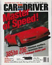 Car & Driver Aug 2000 - Corvette Z06 - Porsche Boxster - Audi TT Quattro