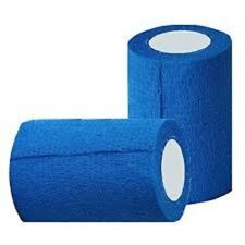 Cohesive Bandage Blue 7.5cm x 4.5M pack of 6