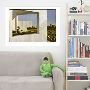 Edward Hopper Office in a Small City Vintage Wall Art Poster Print Picture