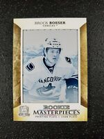 🔥🔥📈 BROCK BOESER 2017-18 UD The Cup Rookie Masterpieces Printing Plate 1/1