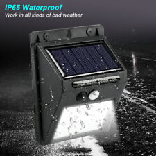 LED Outdoor Solar Powered Wall Lamp PIR Motion Sensor Waterproof Security Light