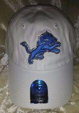 Detroit Lions Womens Sparkle 47 Brand Rhinestone Bling NFL Cap Hat ~NEW~