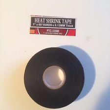 1x 60 Yards Black Heat Shrink Tape