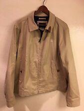Genuine Lacoste khaki zip-up jacket (size: 54) - great condition - retail $295!