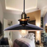 NEW Paint Black Metal Shade Ceiling Vintage Retro Chandelier Pendant Lamp Light
