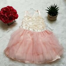 Nicole Miller Tiered Ruffle Girls Dress Blush size 6 Brand New
