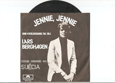 LARS BERGHAGEN Jennie, Jennie 7/45 EUROVISION Sweden '75 RARITY PORTUGAL PRESS