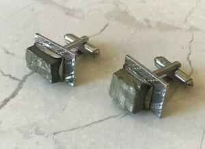 Vintage Pyrite Square Cufflinks