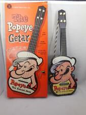 Popeye Getar    Mattel Music Box Toy     Original Box    1960s