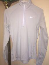 Nike Women's Element Half-Zip L/S Pullover Active Shirt Sz S #321646 BABY BLUE