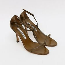 21fee064cdd3f MANOLO BLAHNIK SLINGBACK SANDALS HEELS OPEN TOE WOMEN'S SIZE 5.5