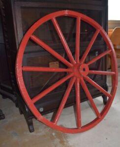 Antique Wood Wagon Wheel, Rd