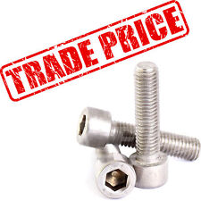 *TRADE PRICE* A2 STAINLESS SOCKET CAP HEAD BOLTS ALLEN KEY DRIVE M5 M6 M8