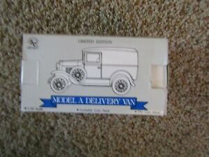 Ford Model A Delivery Van Limited Edition Coin Bank - NEW IN BOX