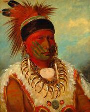 "George Catlin: ""White Cloud, Head Chief of the Iowas"" (1845) — Fine Art Print"