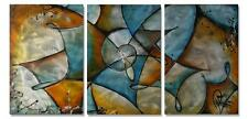 Modern Metal Wall Hanging Art Twisted Set of 3 Abstract Decor