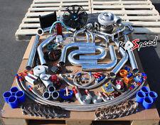 SBC SMALL BLOCK CHEVY SB 350 400 SINGLE GT45 GT-45 TURBO KIT DIY FMIC PIPING WG