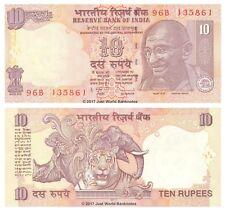 Inde 10 Roupies 2011 P-95s lettre B billets UNC