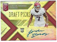 Jordan Thomas 2018 Elite Draft Picks Autograph Rookie #221 Texans Sooners Insert