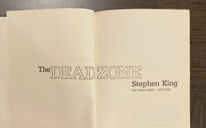 STEPHEN KING: THE DEAD ZONE First Edition First Printing
