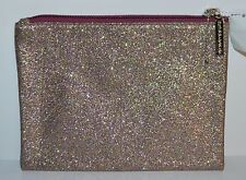 BATH BODY WORKS GLITTER CLUTCH BEAUTY BAG COSMETIC COIN PURSE ZIPPERED ORGANIZER