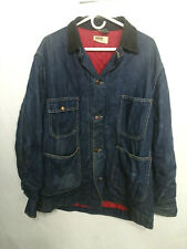 Vtg Montgomery Ward Denim Barn Jacket Coat Lined Size 44