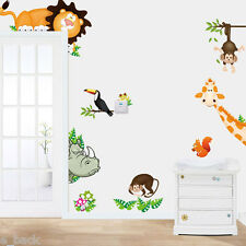 Jungle Animal Wall Sticker Decal Kids Baby Nursery Child Home Decor Art Mural