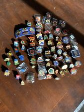Large Lot of 67 Lapel Pins Misc Variety Mix Sports super bowl + challenge coins